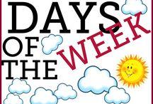 Numbers, Days of the week / Anglický jazyk flashcards čísla, dny v týdnu