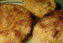 Tuna, sweet potato patties