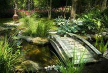 Jardin réception villa
