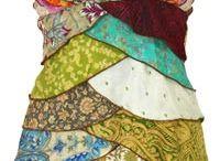 creative remodelling -Saris / Different uses for sari material