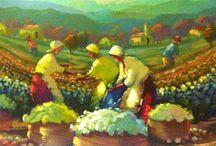 pintura colheita