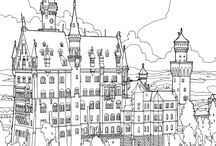 Printables: Coloring (Places & Buildings) / Coloring pages for those who want some hard work. Themes: places, buildings, monuments, tourist attractions etc.