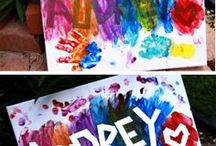 Paint activities and crafts / Collection of fun crafts and activities for kids that use paint!