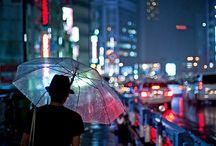 Men in umbrella
