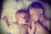 Beautiful babes! / Two beautiful little sibling beauties!  I loved watching how the older boy reacted to his new baby sister in the shoot, and in life :-) Portrait Photography, Children, Babies.