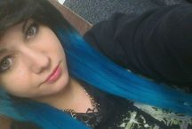 black/blue Hair