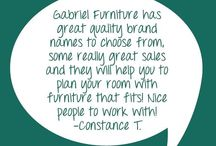 Testimonials / Here are some testimonials from customers of Gabriel Furniture!