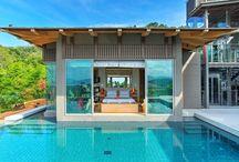 Villa Phuket / La villa sur l'ïle de Phuket, en Thaïlande, est située dans un complexe parfaitement décoré avec une vue imprenable sur la mer et une jungle luxuriante. Une propriété de style contemporain thaï-balinais de 7 chambres et 2 piscines   Située à 5 minutes de la plage de Layan, la villa est idéalement située pour les balades et pour profiter de la plage.   www.azygo.com | Mon Prochain Voyage