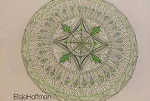 HandDrawnMandalaDesigns / Hand Drawn Mandala Designs. Harmony. Balance. Colour Co-ordination. Beauty. De-Stress. Contain the circle