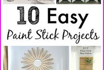 paint stick crafts