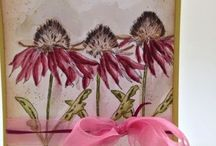 Brand TH: Flower Garden & Perspective / These are not my projects.  They are beautiful projects created by very talented artists using Tim Holtz Flower Garden and Perspective stamp sets.
