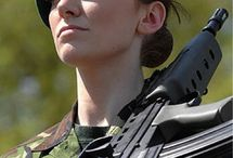 Beret of female soldier