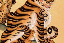 Korean tigers & magpies / Exploring the stories, illustration & iconography & art of Tigers & Magpies in Korea