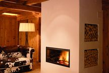 Cabin Fireplace Ideas / by Gary Lindberg