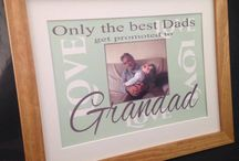 Dad and Grandad / Gorgeous Photo Prints that are personalised especially for you  we print your photo on to the design All designs come in