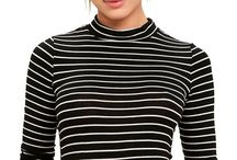Stripes go with everything / Create your outfit with stripes! Check out more music videos outfits on mysnapp.co.uk!