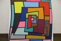 """""""Spiralen"""" / """"Spiralen"""", Acryl On Canvas, by Mimi von Minz"""