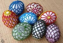 оплетание яиц, шаров