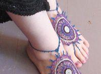 barefoot sandals - CROCHET