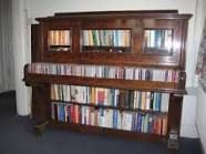 Piano / Bookcase, upright piano, recycling