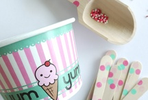 Ice Cream Bowls and Spoons