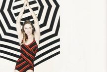 lazy fashion stylist - striped beach umbrella