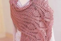 Crochet , knitted shall and poncho