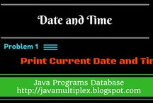 Date and Time / The solution of date and time related problems in java.