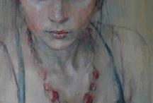Vrouwenportret schilder