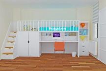 Özel Tasarım Çocuk Odalarımız / Fonksiyonel çekmece basamakları, kitaplığı, rafları, çalışma masası, oyun alanı ve yatma alanıyla kompleks bir mobilya tasarımı Mobilyada Moda'dan... İyi Haftalar... #mobilyadamoda #ranzaalticalismamasasi #alticalismamasaliranza #ranza #cocukodasi #cocukodasitasarimi