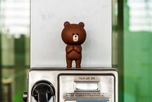 Naver Line Friends / The toys and characters from Naver Line Friends. / by Steven Suwatanapongched