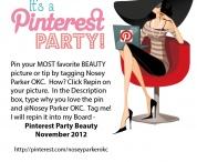 Pinterest Party Beauty November 2012