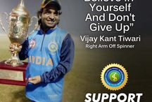 Vijay Kant Tiwari / Vijay Kant Tiwari aka Champ is a right arm off spinner of Indian Cricket team for the physically challenged. Vijay got his 1st opportunity to play the international tournament against Pakistan in Pakistan in 2012.   Vijay is also a part of the Indian Squad for the upcoming Divyang T20 Cricket Series for the Physically Challenged