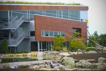 """Aqualand - Aquascape Headquarters / Aqualand is the corporate office of Aquascape, Inc and is a Silver Level LEED-certified building with the largest sloping green roof in North America. Aquascape appeared on Crain's """"Best Places to Work"""" list.  http://www.aquascapeinc.com"""