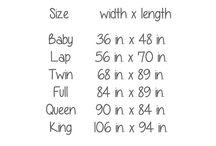 Quilt sizes
