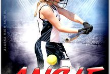 Softball sports photography template
