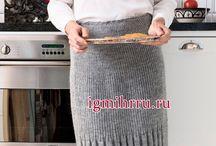 Вязанные юбки шорты