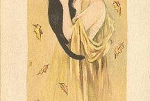 vintage halloween illustrations