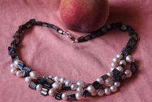 collares perlas y nacar / collares con perlas de colores, nácar o cuero vintage