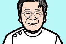 nigaoe / 制作した似顔絵です。その人の性格や好きな色を取り入れて制作しています。