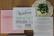 HB Invitations / A mixture of Wedding Stationery Invitations designed by me.
