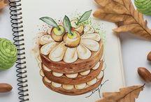 Рисунки тортов