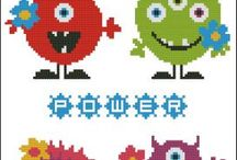 Monster cross stitch
