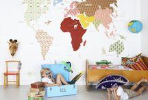 Kids room (travel themed)