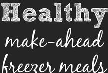 Healthy Make Ahead Meals / Delicious Healthy and Simple Make Ahead Meals. Great Ideas to help that Busy Mom Plan the Meals. Freezer, Crock Pot, Easy Casserole, Beef or Chicken and much more!!
