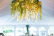 Цветочные люстры и оформление потолка