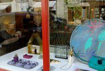 Vitrines / Les vitrines de la boutique Fleurenplume au fil des saisons..