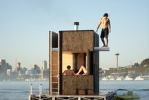 plywajacy pomost dom sauna