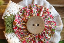 Suffolk puff and lace brooch love it