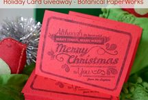 eco-friendly personalized Christmas cards from Botanical PaperWorks
